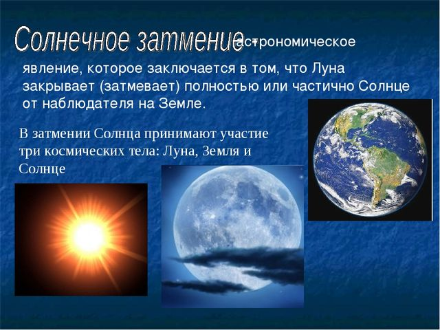 астрономическое явление, которое заключается в том, что Луна закрывает (затм...