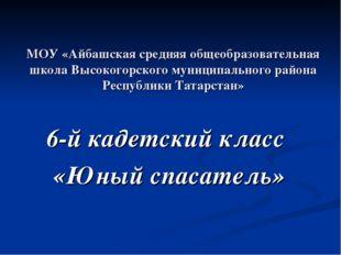 МОУ «Айбашская средняя общеобразовательная школа Высокогорского муниципальног