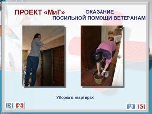 ПРОЕКТ «МиГ» ОКАЗАНИЕ ПОСИЛЬНОЙ ПОМОЩИ ВЕТЕРАНАМ Уборка в квартирах