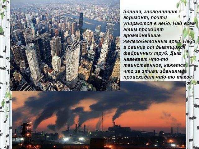 Здания, заслонившие горизонт, почти упираются в небо. Над всем этим проходят...