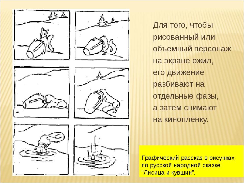 """Графический рассказ в рисунках по русской народной сказке """"Лисица и кувшин""""...."""