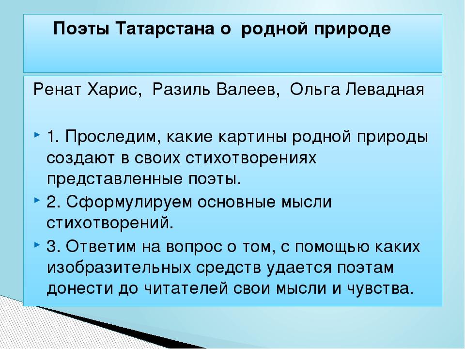 Ренат Харис, Разиль Валеев, Ольга Левадная 1. Проследим, какие картины родно...