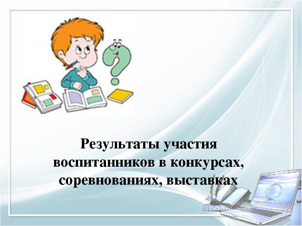 Результаты участия воспитанников в конкурсах, соревнованиях, выставках