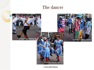 The dancer Cotswold Morris