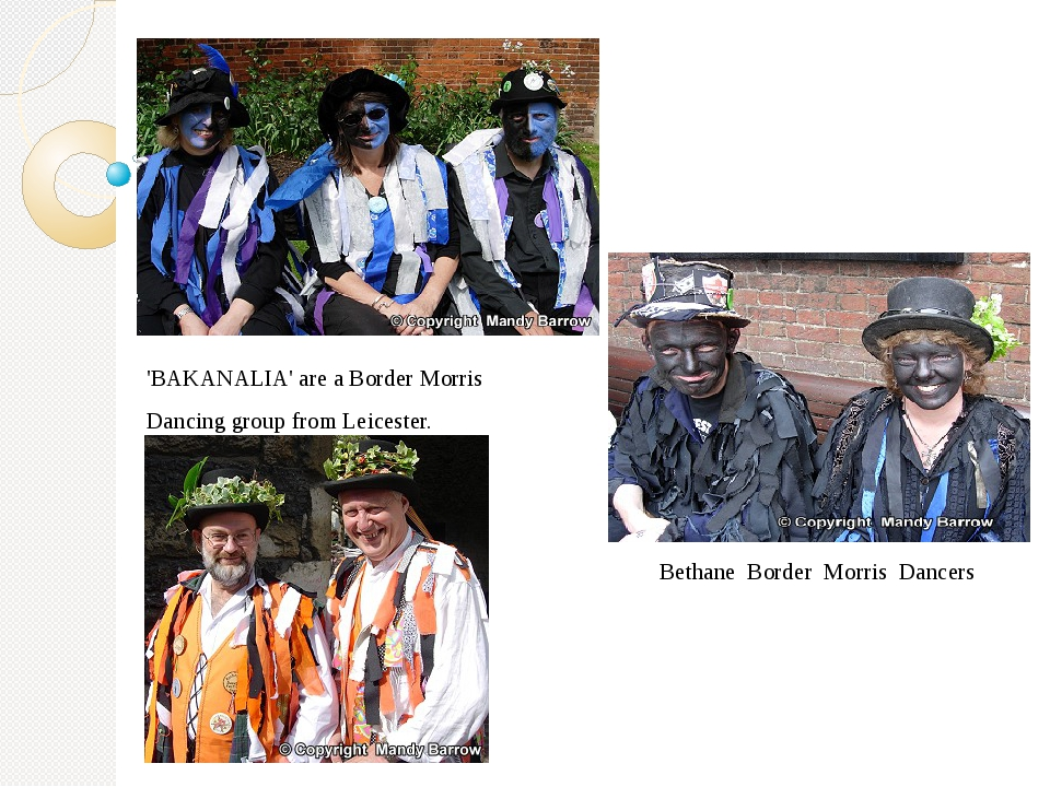 'BAKANALIA' are a Border Morris Dancing group from Leicester. Bethane Border...