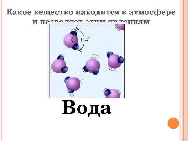 Какое вещество находится в атмосфере и позволяет этим явлениям существовать?...