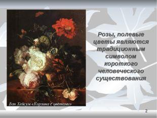 Розы, полевые цветы являются традиционным символом короткого человеческого су