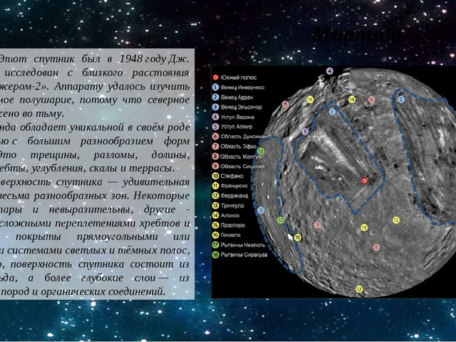 Этот спутник был в 1948годуДж. Койпероми исследован с близкого расстояния...