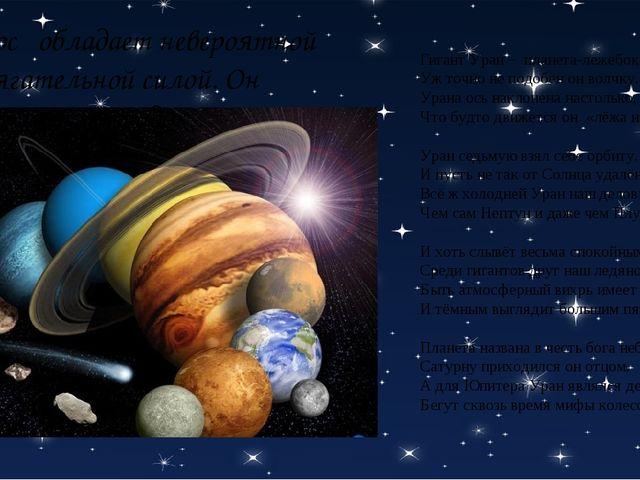 Гигант Уран – планета-лежебока: Уж точно не подобен он волчку. Урана ось накл...