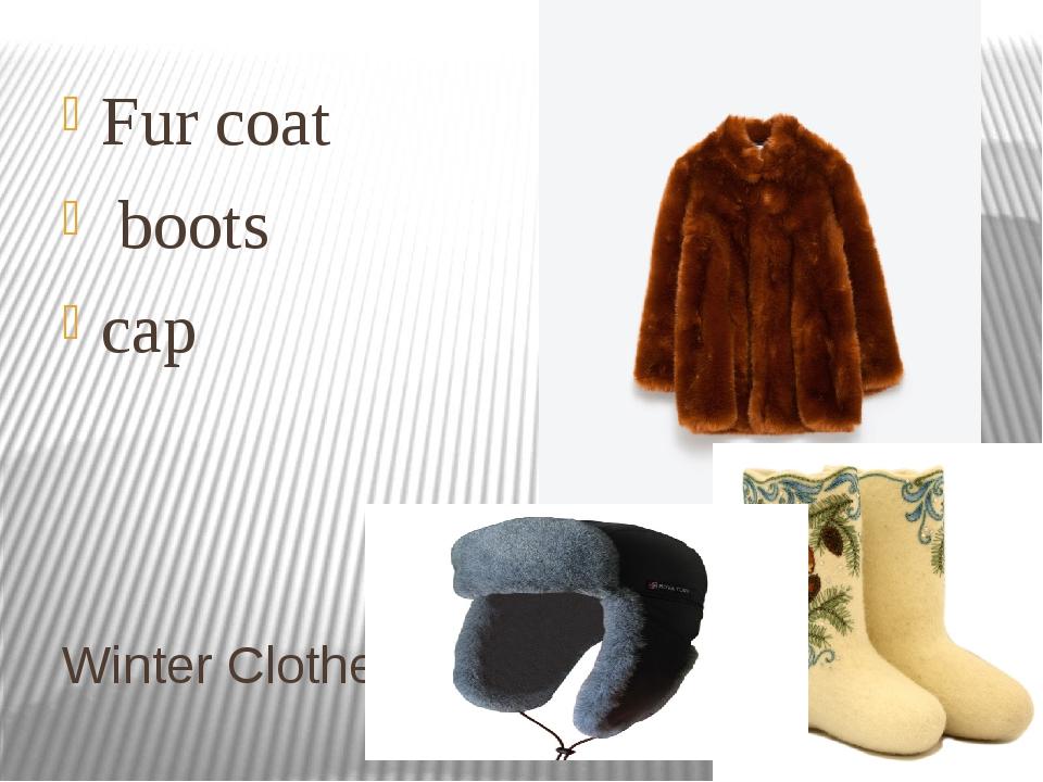 Winter Clothes Fur coat boots cap
