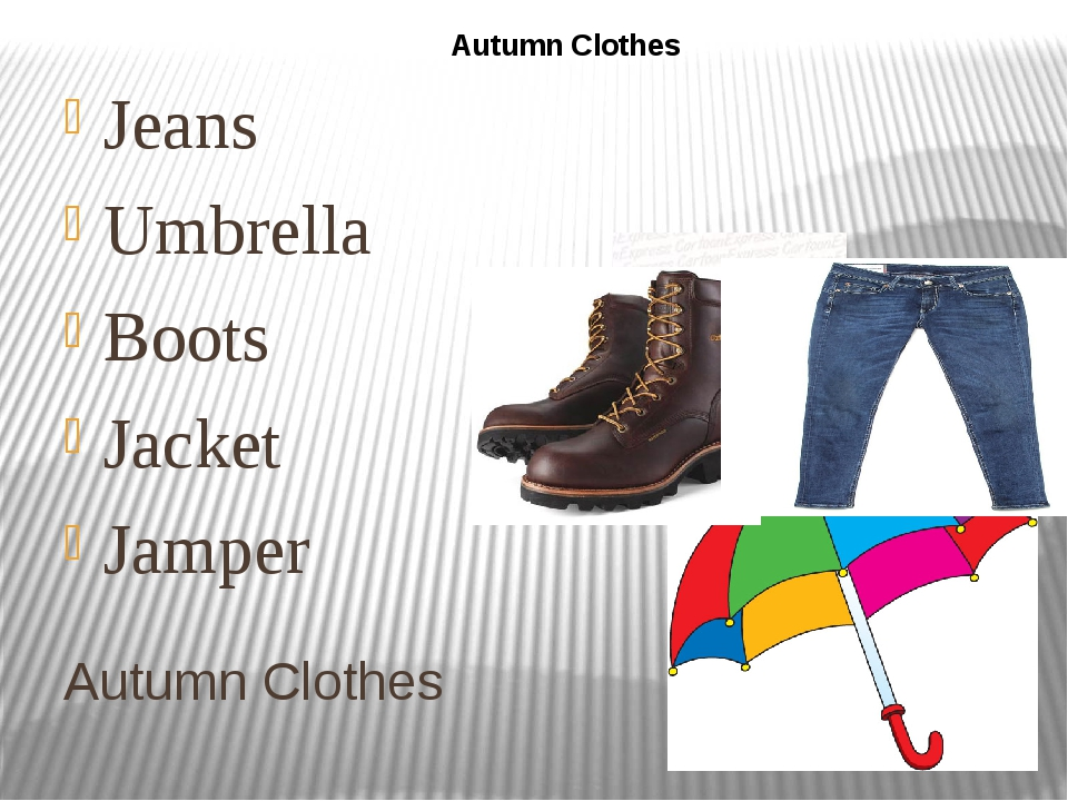 Autumn Clothes Jeans Umbrella Boots Jacket Jamper Autumn Clothes