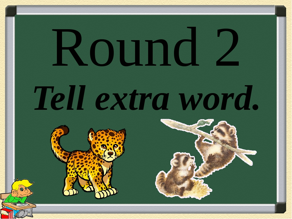 Round 2 Tell extra word.