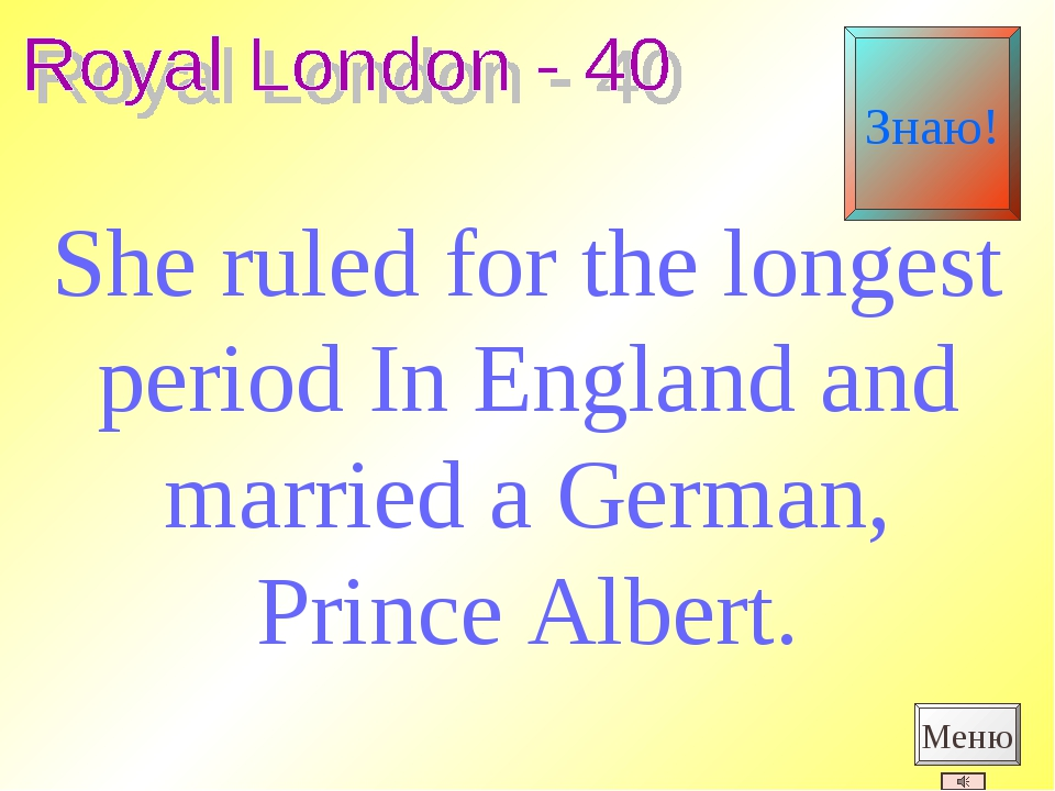 She ruled for the longest period In England and married a German, Prince Albe...