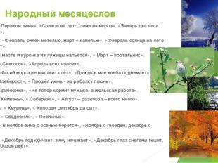 Народный месяцеслов Январь: «Перелом зимы», «Солнце на лето, зима на мороз»,