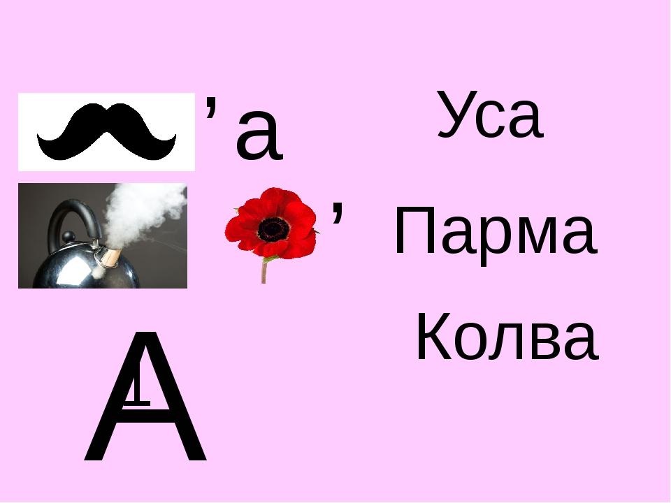 Уса Парма Колва , а , А 1