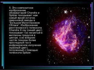 5. Это композитное изображение обсерваторий Chandra и Spitzer показывает нам