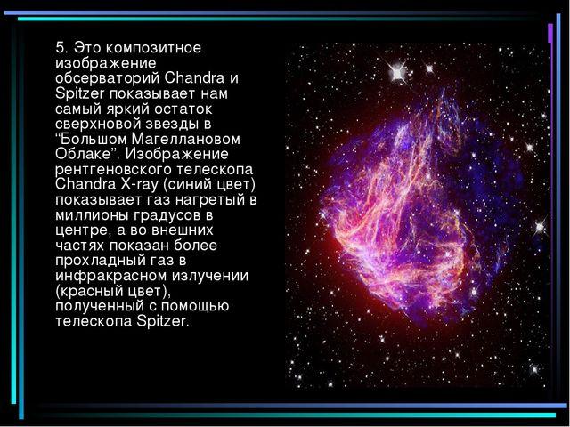 5. Это композитное изображение обсерваторий Chandra и Spitzer показывает нам...