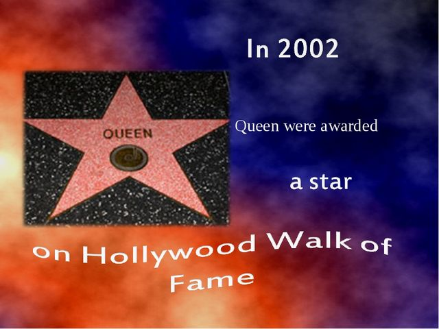 Queen were awarded