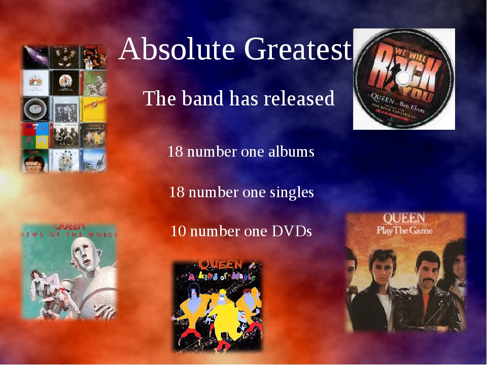 Absolute Greatest The band has released 18 number one albums 18 number one s...