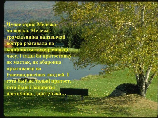 Чулае сэрца Мележа-чалавека, Мележа-грамадзяніна надзвычай востра рэагавала н...