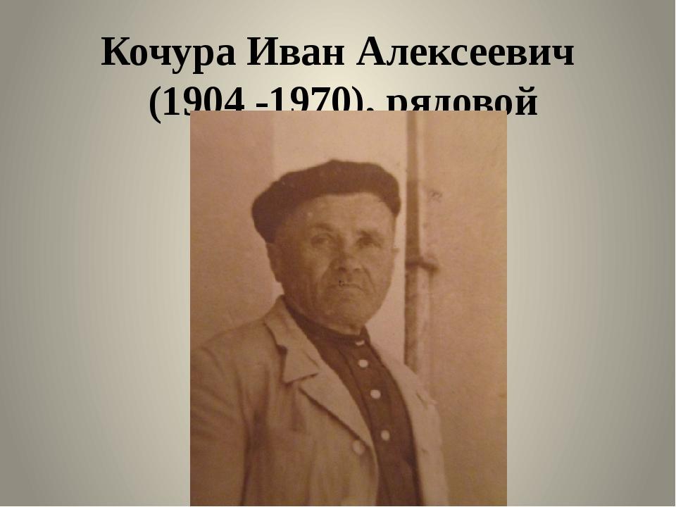 Кочура Иван Алексеевич (1904 -1970), рядовой