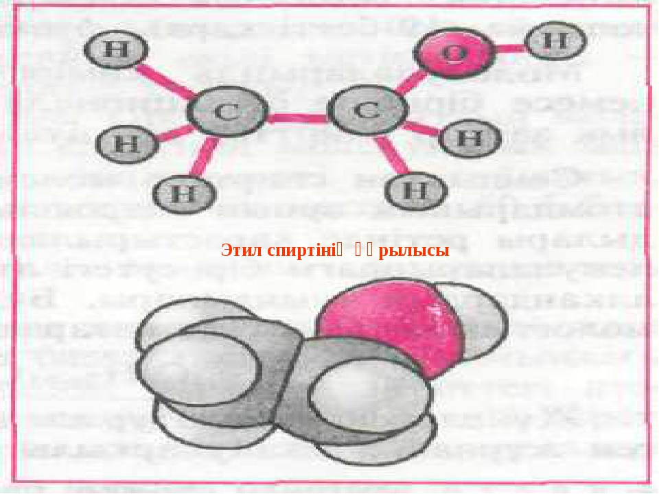 Физикалық қасиеттері. Этил спиртінің құрылысы