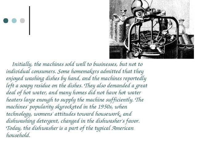 Initially, the machines sold well to businesses, but not to individual consum...