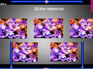 Білім минуты 1 2 3 4 5 Тапсырма№1