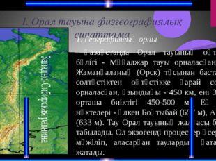 Орал тау жүйесі Жер бедері мен геологиялық құрылысы Мұғалжардың пайда болу жо