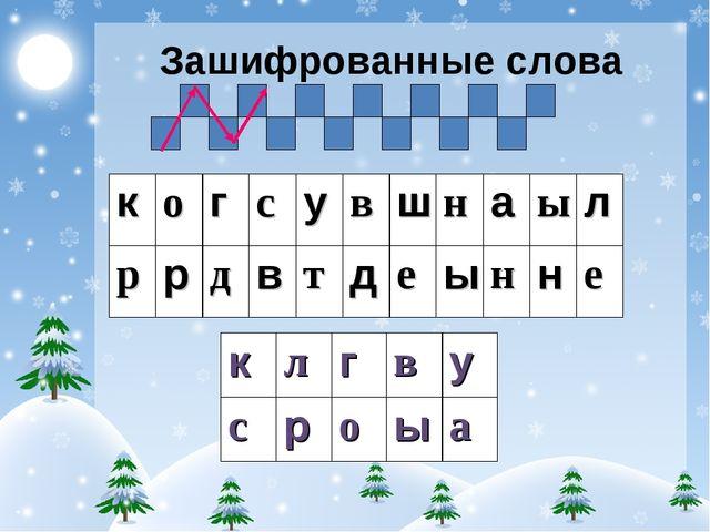 Зашифрованные слова когсувшнаыл ррдвтдеынне клгву с...