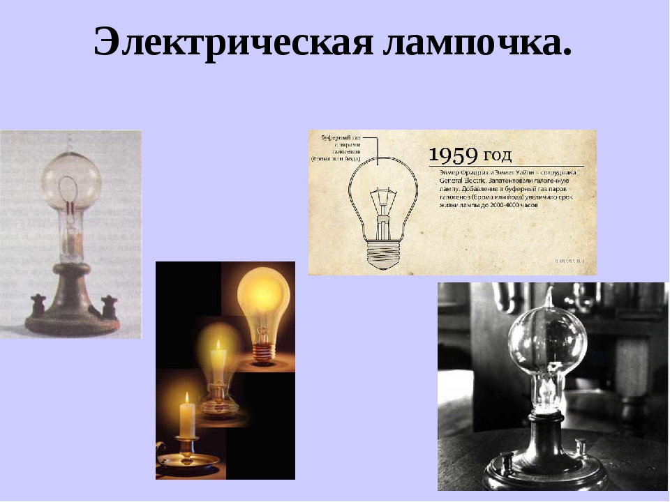 Электрическая лампочка.