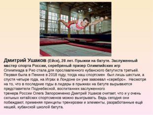 Дмитрий Ушаков (Ейск), 28 лет. Прыжки на батуте. Заслуженный мастер спорта Р