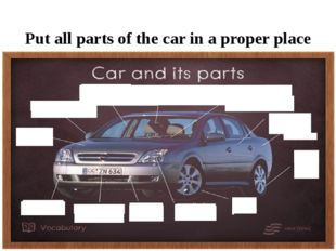 Put all parts of the car in a proper place