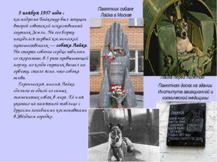 3 ноября 1957 года с космодрома Байконур был запущен второй советский искусс