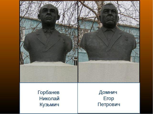 Горбанев Николай Кузьмич Домнич Егор Петрович