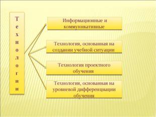 Технология, основанная на создании учебной ситуации Технология проектного обу