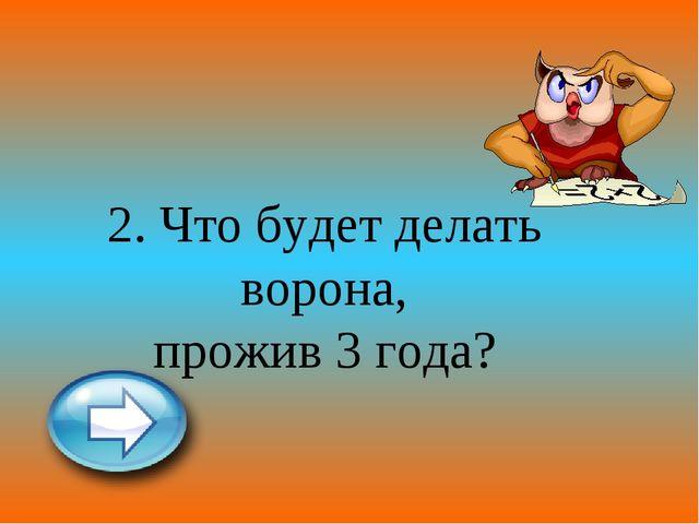 2. Что будет делать ворона, прожив 3 года?