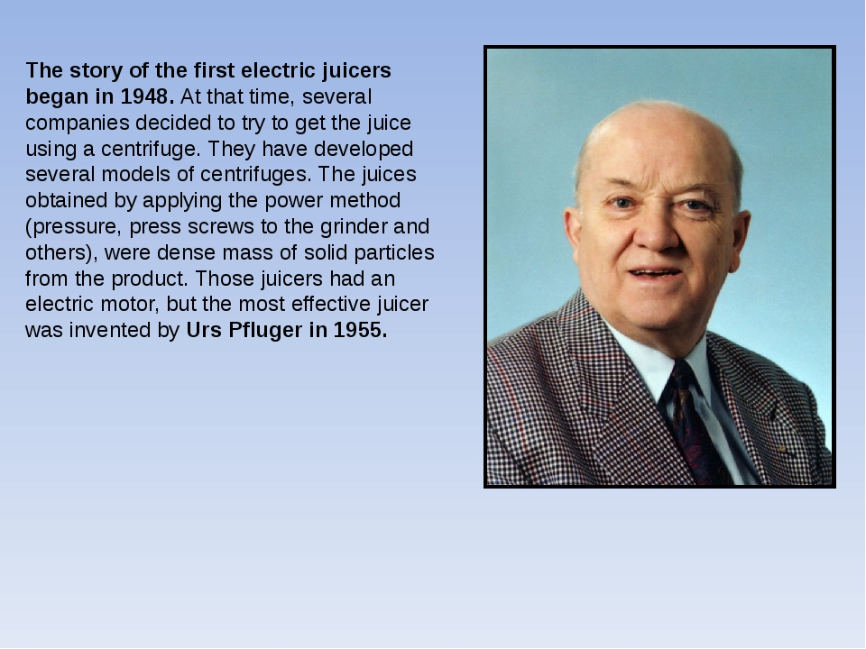 The story of the first electric juicers began in 1948. At that time, several...