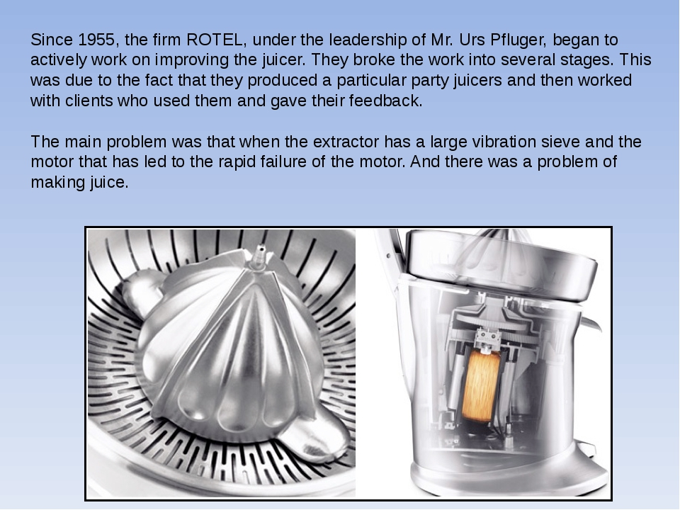 Since 1955, the firm ROTEL, under the leadership of Mr. Urs Pfluger, began to...