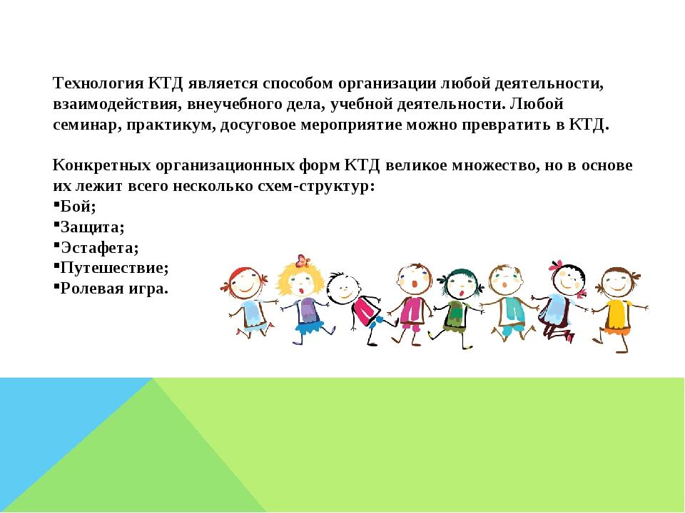 Технология КТД является способом организации любой деятельности, взаимодейств...