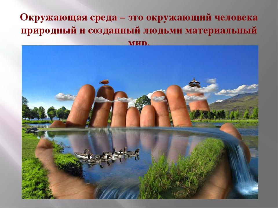 Окружающая среда – это окружающий человека природный и созданный людьми матер...