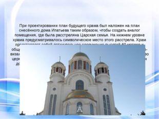 При проектировании план будущего храма был наложен на план снесённого дома И