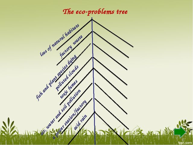 The eco-problems tree a power station/factory toxic fumes factory waste pollu...