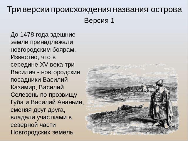 До 1478 года здешние земли принадлежали новгородским боярам. Известно, что в...