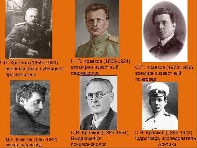 В. П. Кравков (1859–1920) военный врач, публицист-просветитель. Н. П. Кравко...