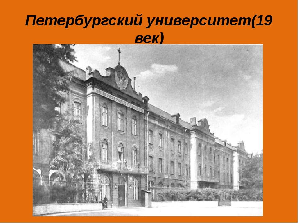 Петербургский университет(19 век)