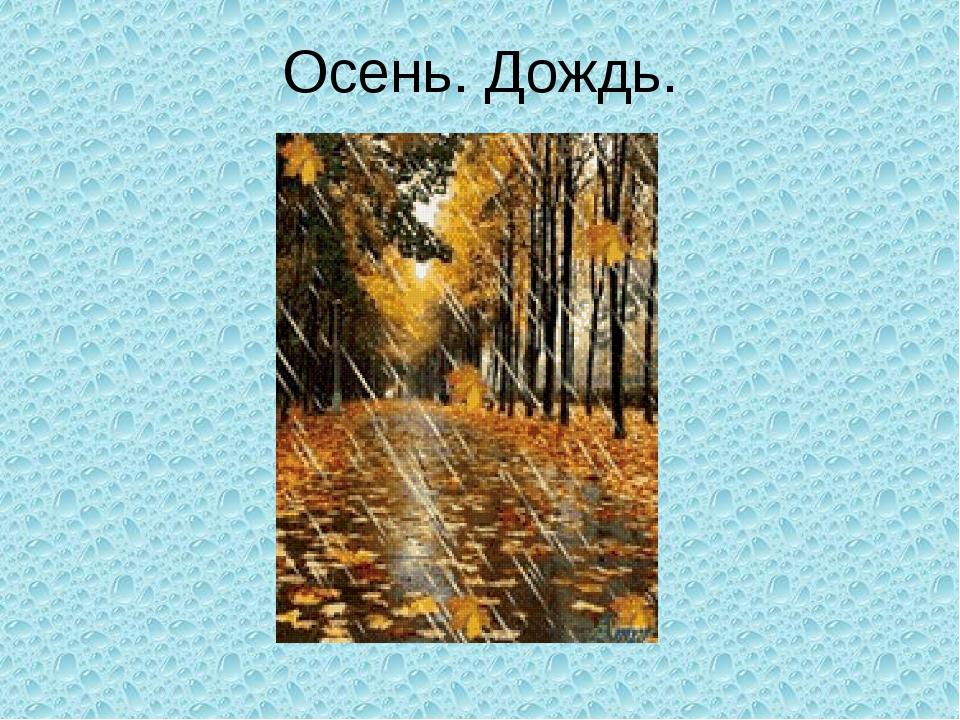 Осень. Дождь.