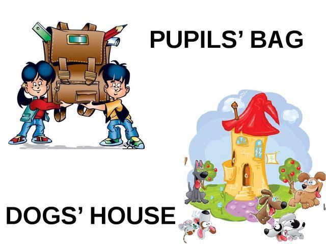 PUPILS' BAG DOGS' HOUSE