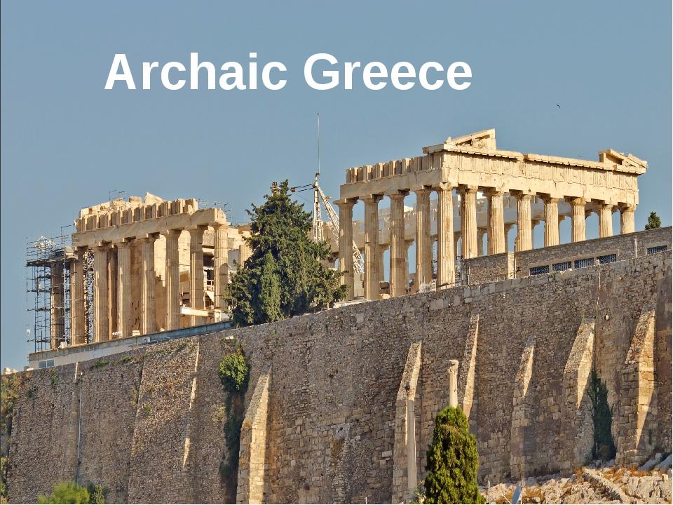 Archaic Greece