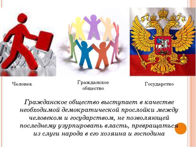 Гражданское общество выступает в качестве необходимой демократической прослой...